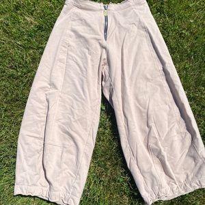 Vintage Culottes Thick Cotton Comfy Pants